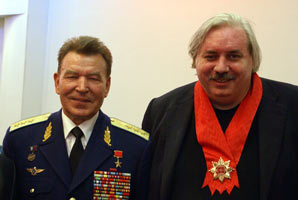 Nicolai Levashov and colonel-general Nicolai Antoshkin, 2008